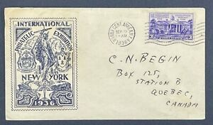 Scott 835 International Philatelic Exhibition New York 1936