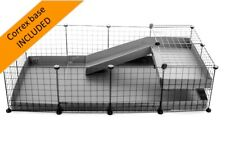C&C cage for guinea pig (4x2 - 56x28in) CORREX BASE INCLUDED with pre-cut corner