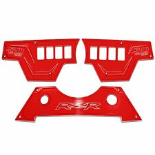 3 Piece with Bottom Center Dash Panel Red Powdercoated fits Polaris RZR XP1000