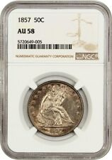 1857 50c NGC AU58 - Liberty Seated Half Dollar