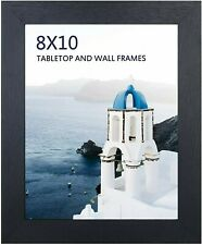 8x10 Black Picture Frame, Photo Frames for Wall Tabletop Display, Ready to Hang