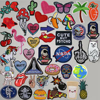 DIY Badge Patch Embroidered Sew Iron On Patches Badge Bag Fabric Applique Craft