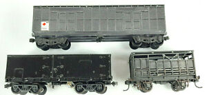 NSWGR BOGIE VANS AND CATTLE WAGON KIT-BUILT KADEES GOOD COND UNBOXED HO(VH)