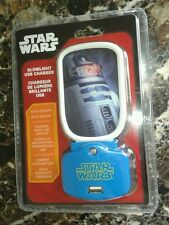 Star Wars R2D2 Glowlight USB Charger - NEW Sealed auto on/off - LED
