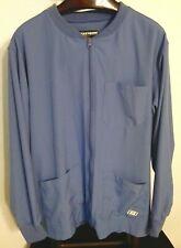 419d4928b39 Skechers Men's Structure Warm-Up Scrub Jacket Ceil Blue Size Large