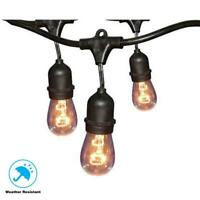 Hampton Bay 12-Light 24 ft. Black Commercial String Light GLS-14J2-E26S-12