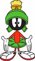 MARVIN THE MARTIAN KIDS DECAL USA STICKER CAR TRUCK WINDOW BUMPER LAPTOP WALL