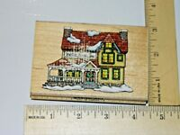 Bedford House Inn 1999 Christmas Collection Inkadinkado Rubber Stamp