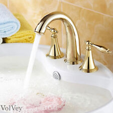 """6"""" Gold Bathroom Sink Faucet Widespread Three Holes/Two Handles Lavatory Taps"""