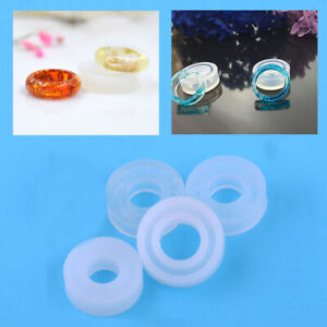 4 Size Resin Ring Moulds Set Mold Making Casting Jewelry Hand Craft Tool Kit A+