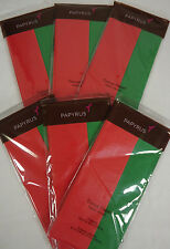 Lot of 6 Papyrus Holiday Christmas Tissue Wrapping Paper 32 Sheets