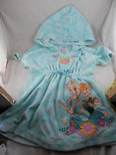 Disney Frozen Elsa & Anna  hoodie pullover Terry cloth robe size 2 Bath Swimwear