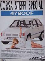 PUBLICITÉ 1988 OPEL CORSA STEFFI SPÉCIAL - ADVERTISING