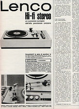 (AM) EPOCA973-PUBBLICITA'/ADVERTISING-1973- LENCO HI-FI STEREO