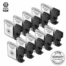 10 PK for LC61BK Brother Black Ink Cartridges LC-61 Printer MFC-290C LC61 New