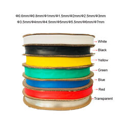 5M Heat Shrink Tube Tubing Sleeve 2:1 Sleeving Heat Shrink All Colours and Sizes