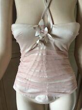 La Perla Glamour Basque Corset Nude Pink Net Mesh Size 2 Uk 34 EU 75