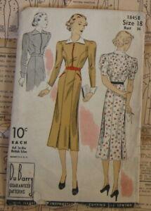 Vintage Antique DeBarry Dress Sewing Pattern Uncut Unused #1845 B