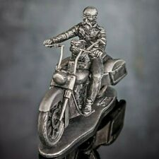 Biker chopper Motorcycle Collection Figurine Handicraft Metal Toy Soldiers 54mm