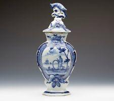 Antique Dutch Delft De Klaeuw Lidded Vase 18Th C.