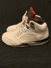 "3202a42a1290 Nike Air Jordan 5 Retro ""White Cement"" Men s Size 12 136027-104 White"