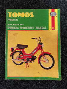Tomos Haynes Manual A3k A3m A3ms A3ml A3 a3 Moped 49cc Owners TOMOS 1982 - 1984