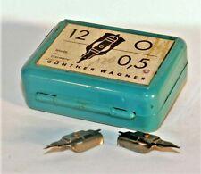 PELIKAN GRAPHOS Plastic box Draft Calligraphy Dip Pen 2x1.6 Nibs