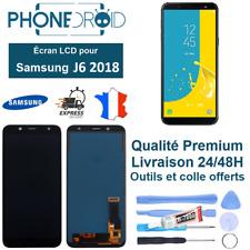 écran complet LCD + Tactile Samsung J6 2018 Noir Qualité TFT + Outils, stock FR