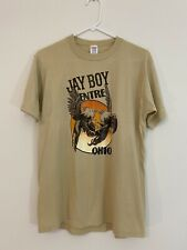 New listing Vintage 80s Jay Boy Entre Ohio Cockfighting T Shirt • Large Jerzees Cowboy Farm