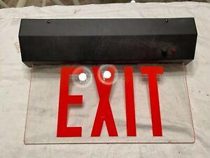 Lightolier LED Edge-Lite Exit Sign, Black./Acrylic, 1 sided Red, Model: LEESC1RC