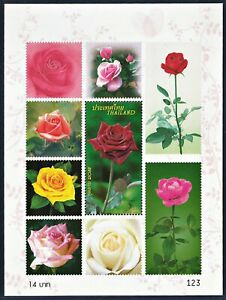 Thailand Stamp 2010 Rose 9th Series SS