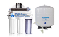 6 Stage RODI Reverse Osmosis Water Filtration System 100GPD + DI + Permeate Pump