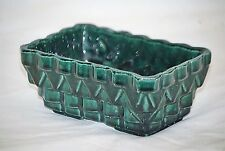"""Old Vintage UPCO Planter 100-6"""" Evergreen Drip Glaze Ungemach Pottery Co USA MCM"""