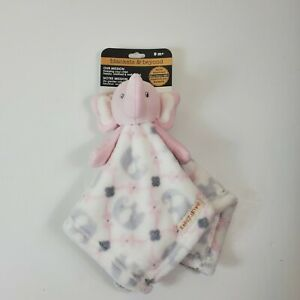 Blankets and Beyond Elephant Security Blanket Lovey White Pink Nunu New Tags