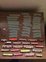 Vintage Micro Machines Train Cars 21 Lot w/ 30 Track Pieces 1980s Toys Railroad