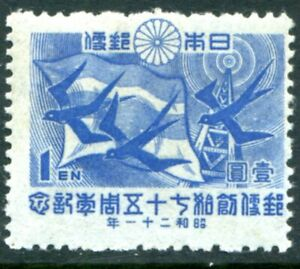 Japan Stamp Scott #378 Communications Symbols 1946