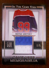 2015/16 WAYNE GRETZKY IN THE GAME USED GAME WORN PATCH SSP 3/5!!