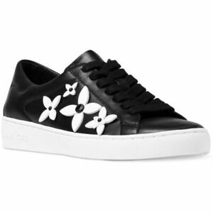 NEW Michael Kors WomenS Lola Fashion Sneaker Comfort Black White Flowers $135