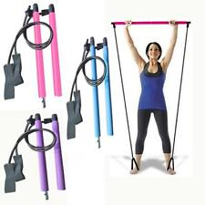 Pilates Resistance Band Yoga Pull Rods Gym Bar Body Abdominal Exercise Workout