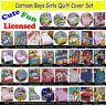 Licensed Kids Children Boys Girls Quilt / Duvet / Doona Cover Set SINGLE DOUBLE
