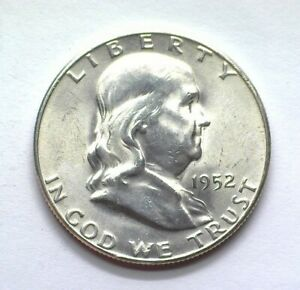1952-S FRANKLIN SILVER 50 CENTS CHOICE / GEM UNCIRCULATED