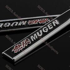 2PCS MUGEN Car Trunk Side Wing Fender Metal Emblem Badge Sticker Decal for Honda