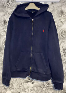 Boys Age 14-16 Years - Polo Ralph Lauren Navy Zip Up Hooded Sweater