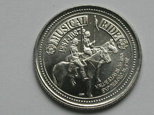 Regina CANADA 1887-1987 $2 Trade Token RCMP Musical Ride Horse & Police Officers