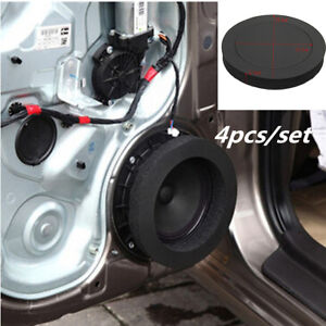 4PCS 6.5'' Car Speaker Ring Bass Door Trim Sound Insulation Cotton Accessories