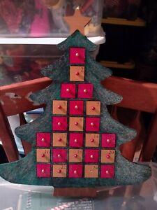 Christmas Tree Wooden Advent Calendar Doors Holidays