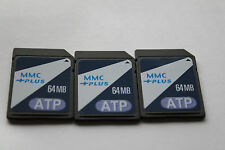 3pcs 64MB ATP MMC Multimedia Memory Card for PALM PDA Older sd cameras