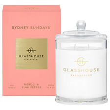 NEW Glasshouse Sydney Sundays 380g Soy Candle Triple Scented Natural Handmade