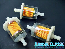 Chevy 3x Clear Inline Gas Fuel Filters 3/8 9mm 10mm Lawn Tractor Equipment NOS