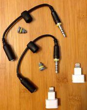 2 Generic Iphone 5 5s 6 LifeProof Audio Adapters,White Dock Extenders,Grey Jack